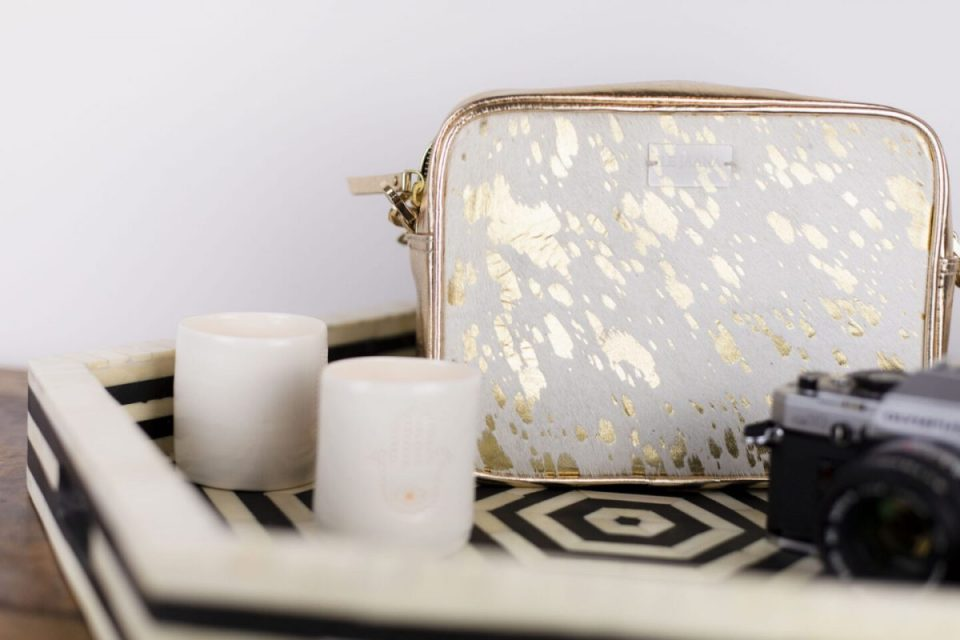 Gold Splash Camera Bag With Tassel By Le Jaana - Win A HUGE Mother's Day Bundle Worth Over £800!
