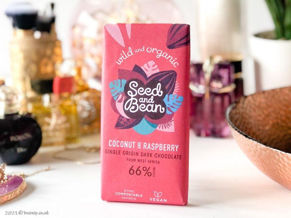 Seed and Bean Coconut and raspberry single origin dark chocolate