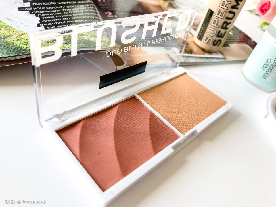 Blush and highlight duo