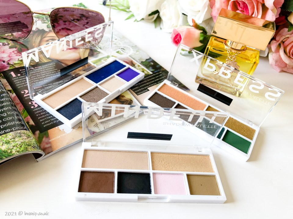 Manifest, Express and Mindful eyeshadow palettes