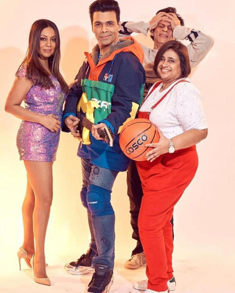 Karan Johar And Gauri Khan Becomes Rahul And Tina From KKHH For A Bollywood Theme Party