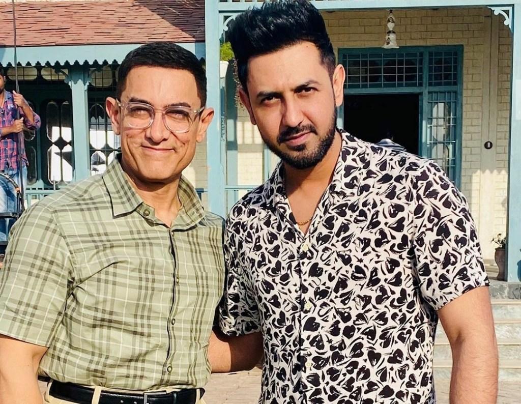 Punjabi Singer & Actor Gippy Grewal Visits Aamir Khan On The Sets Of LAAL SINGH CHADDHA