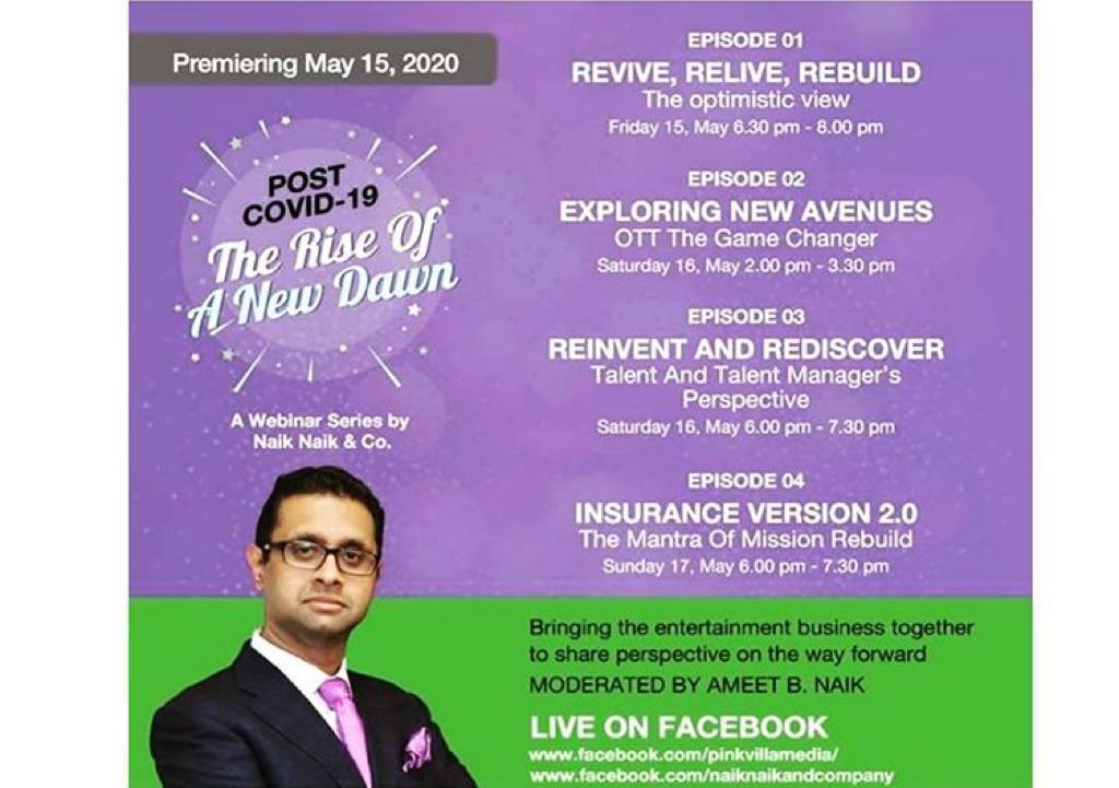 Naik Naik & Company to host first-of-its-kind web series 'Covid 19-The Rise of a New Dawn'; Karan Johar and Varun Dhawan spread the word!