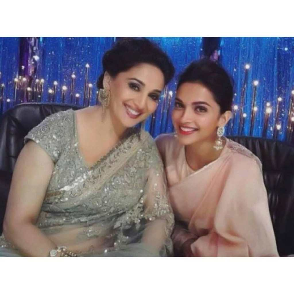 """""""Deepika Padukone also carries these larger than life kind of roles very well"""", Says Madhuri Dixit"""