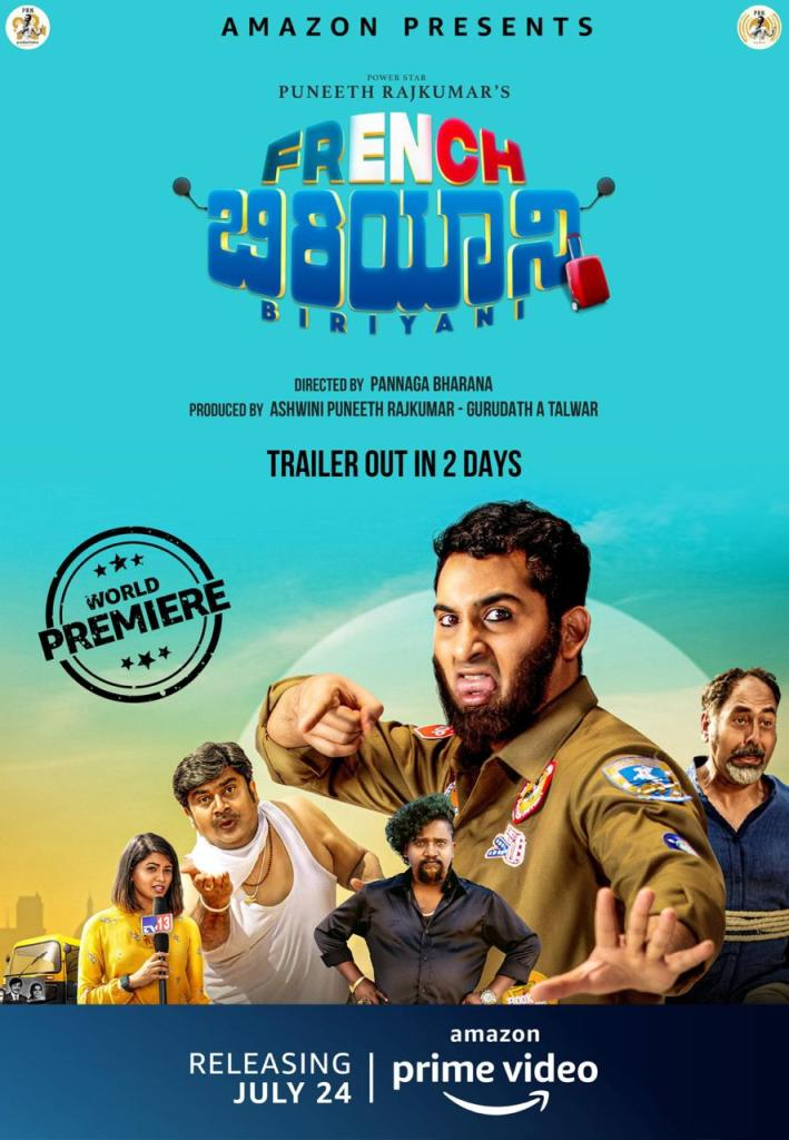 Amazon Prime Video Releases The Poster Of Kannada Film 'French Biryani'; Trailer Out In Two Days!