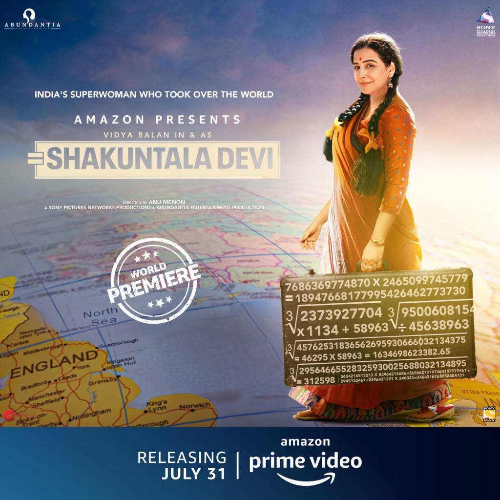 The New Poster Of Shakuntala Devi Featuring Vidya Balan Is Here!