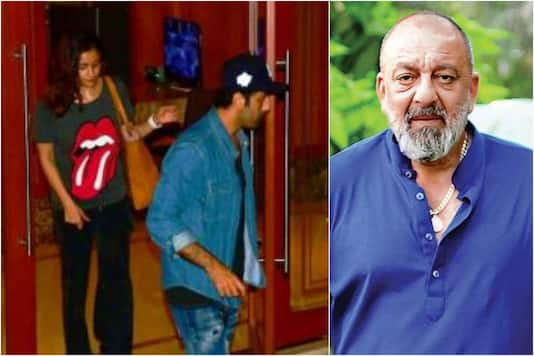 Alia Bhatt & Ranbir Kapoor Visited Sanjay Dutt After Knowing His Health Issues, Spotted Leaving His House