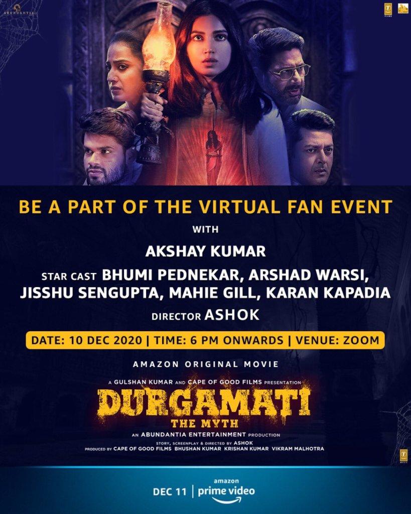Akshay Kumar Invites Fans To Join Virtual Fan Event For Bhumi Pednekar Starrer Durgamati