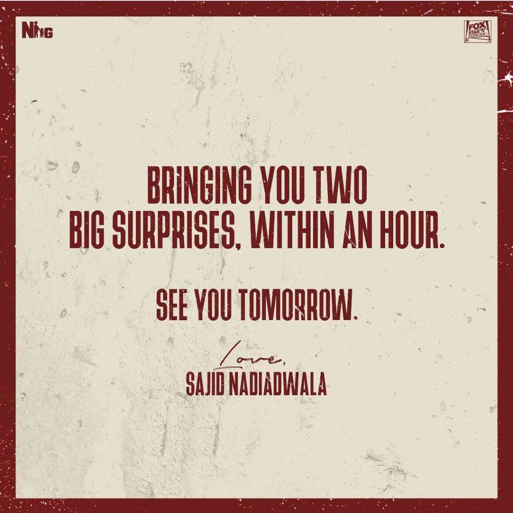 Stay Tuned As Sajid Nadiadwala Has Not One But Two Announcements To Make