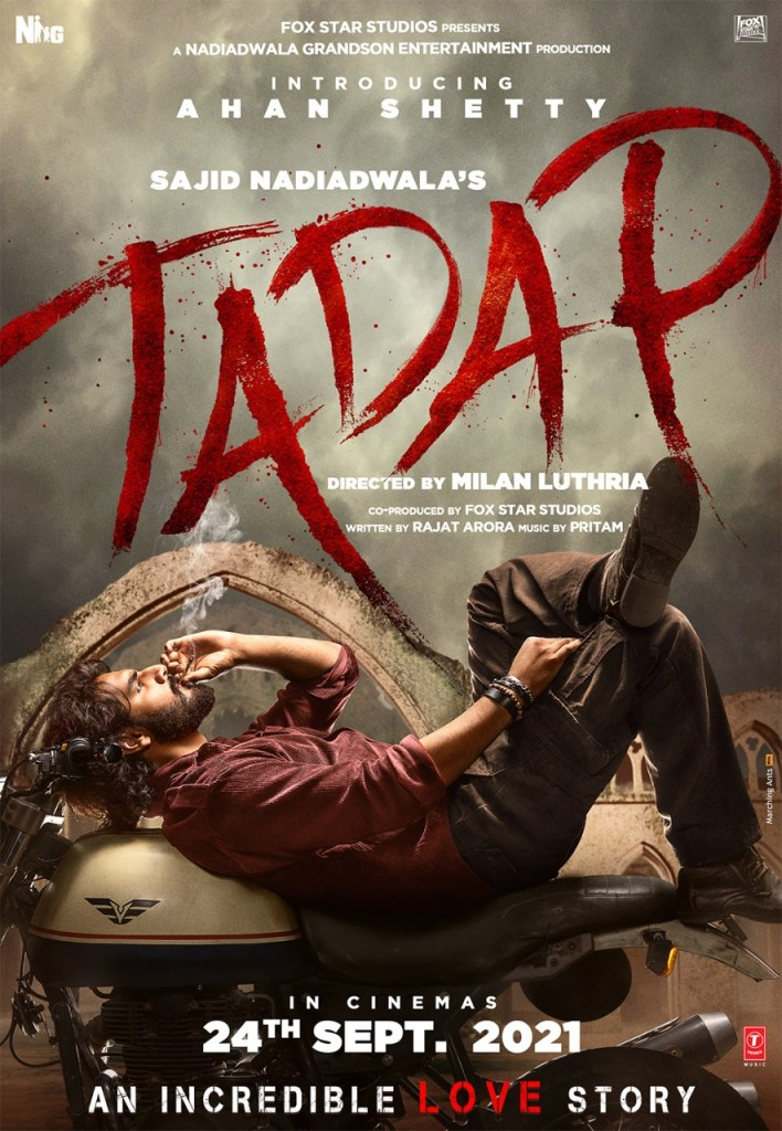 Nadiadwala Grandson Entertainment Production Presents Ahan In The First Look Of 'Tadap'