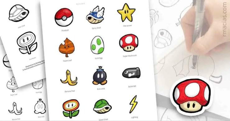 Free printable and DIY kids games ideas with items from popular Nintendo games like Mario Bros, Pokemon, Mario-Kart, Donkey Kong, etc. By Kids Activities Designer Rodrigo Macias