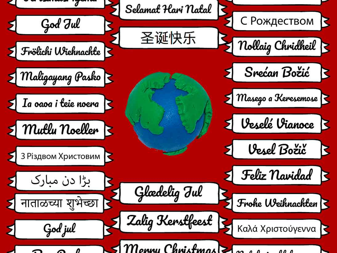 graphic regarding Merry Christmas in Different Languages Printable identified as How in the direction of say \