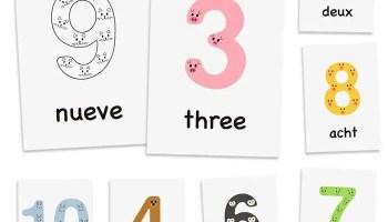1 10 animal numbers for kids free multilingual numbers printables bundle individual posters - Kids Free Printables