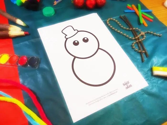 Muneco De Nieve Snowman Template For Preschool Craft Idea For Kids