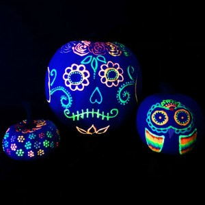 Glow in the Dark Pumpkins by Color Made Happy