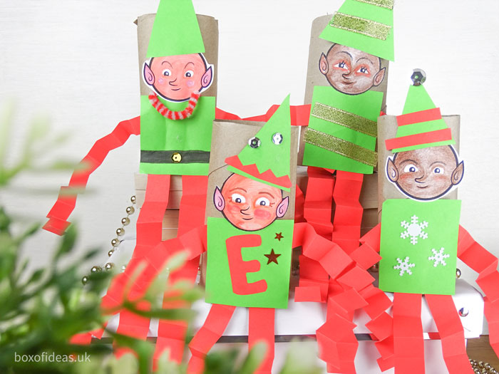 #DIY Christmas #Elf on the Shelf toilet tube craft for teachers of preschool #kids