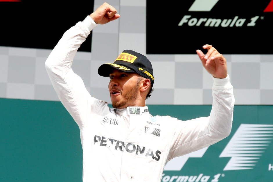 Hamilton aces German Grand Prix after Rosberg botches start
