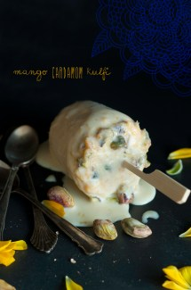 Mango Cardamom Kulfi (Indian Ice Cream)