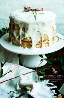 Coconut Cake with Coconut Rum