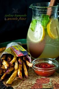 Tangy Indian Lemonade + Masala Fries