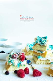 4th of July Meringue Cakes
