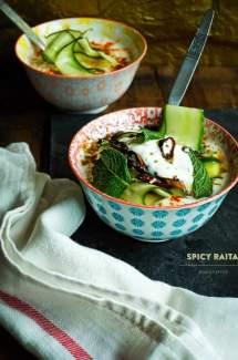 Spicy Raita with Cucumber