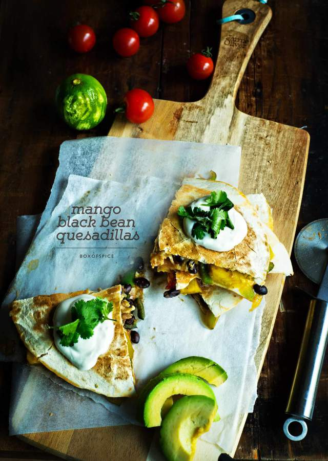 Mango Black Bean Quesadillas