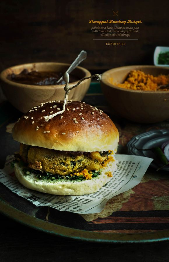 Stamppot Bombay Burger