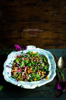 Rosemary Roasted Chaat Masala Chickpea Salad
