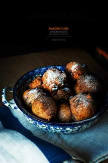 Oliebollen / Dutch Donuts with Saffron and Cardamom
