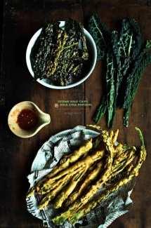 Sesame Kale Chips with Kale Stem Pakodas + the 100th post!