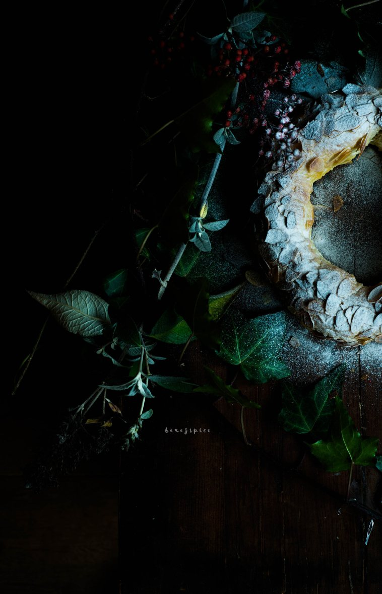 Spiced Almond Paste Wreath with Cardamom I Boxofspice