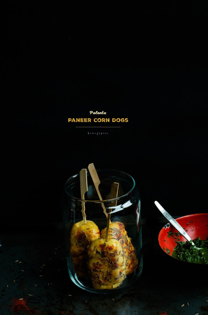 Polenta Paneer Corn Dogs