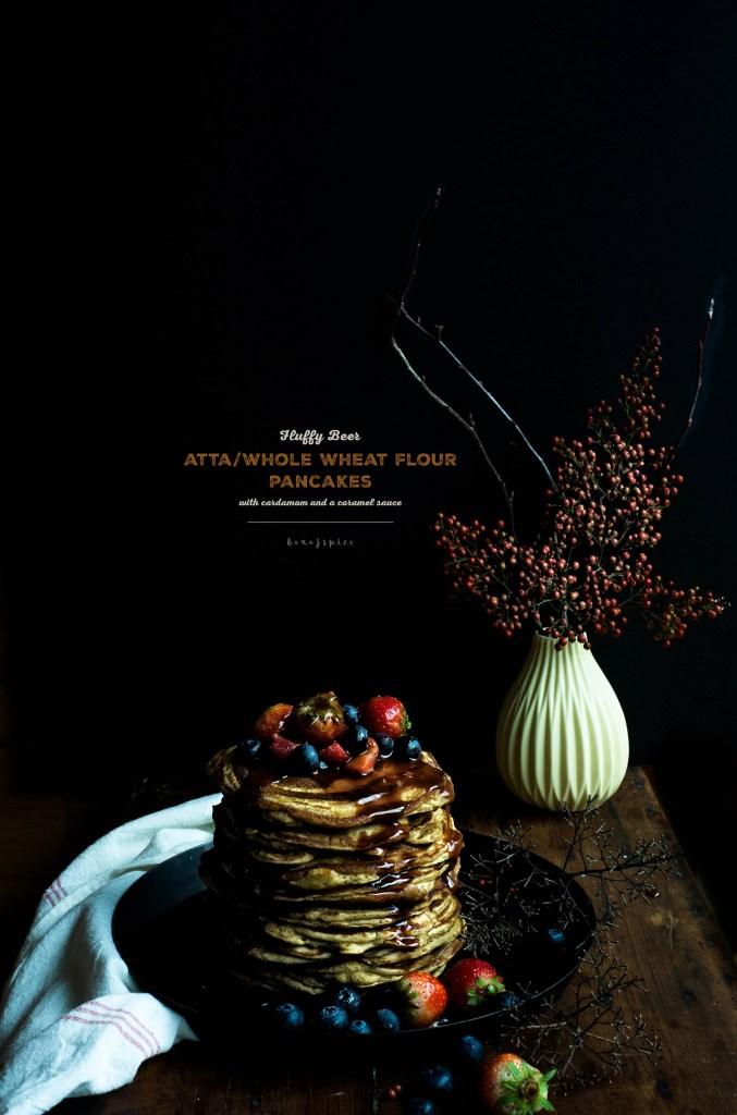 Atta/Whole Wheat Flour Pancakes with Cardamom