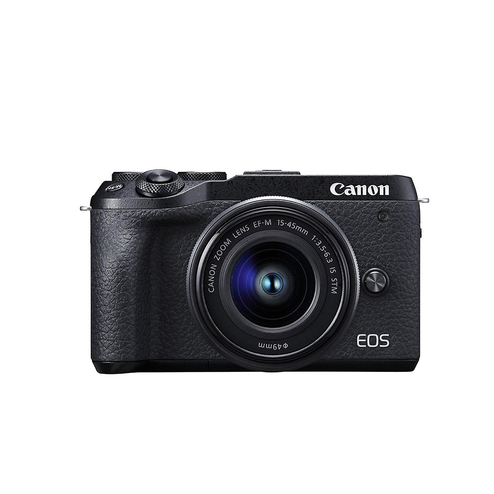 Canon EOS M6 Mark II with EF-M 15-45mm f/3.5-6.3 IS STM - Black