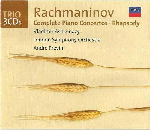Ashkenazy, Previn: Rachmaninov - Complete Piano Concertos, Rhapsody (3 CD, FLAC)