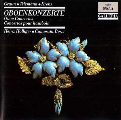 Hollinger: Graun, Telemann, Krebs - Oboe Concertos (FLAC)