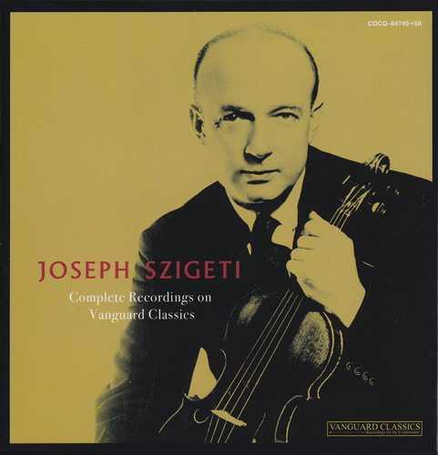 Joseph Szigeti - Complete Recordings on Vanguard Classics (11 CD box set, APE)