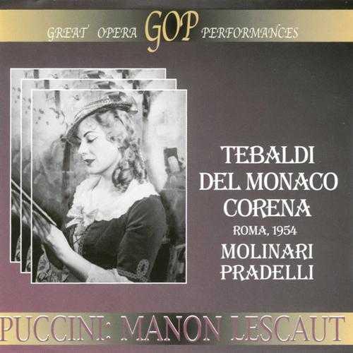 Molinari Pradelli: Puccini - Manon Lescaut, Roma 1954 (2 CD, APE)