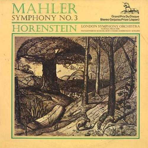 Horenstein: Mahler - Symphony no.3 (2 LP, 24bit/192kHz)