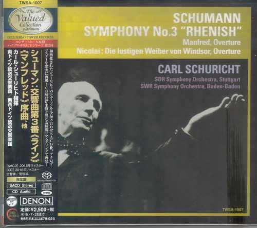 Schuricht: Schumann - Symphony no.3, Manfred Overture, Nicolai - Die lustigen Weiber von Windsor (SACD)