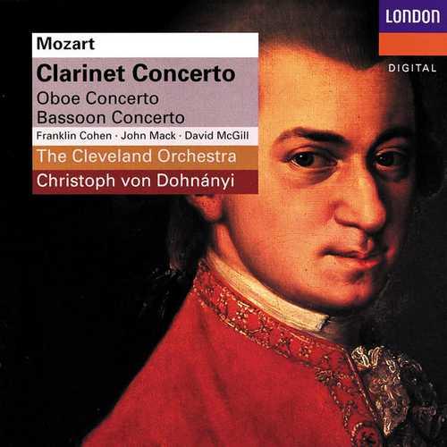 Dohnányi: Mozart - Clarinet Concerto, Oboe Concerto, Bassoon Concerto (FLAC)