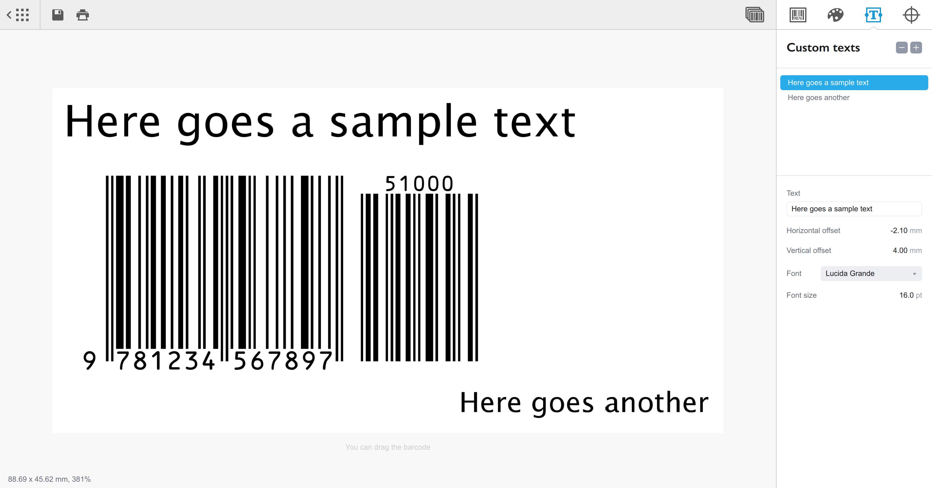 Barcode 1.10 Mac 破解版 - 专业条形码生成器