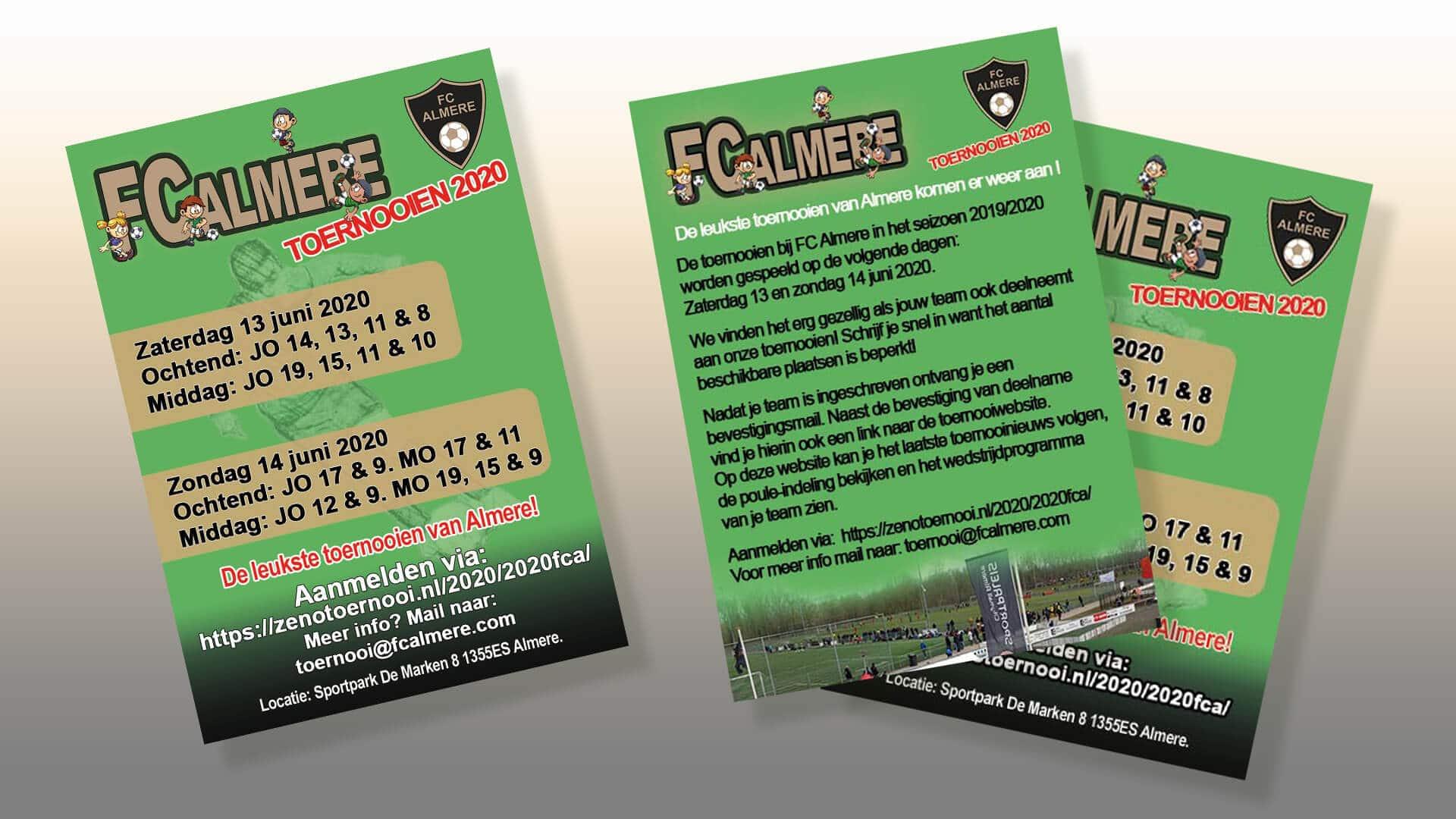 Toernooien FC Almere 2020 - Boxsol promotie materiaal