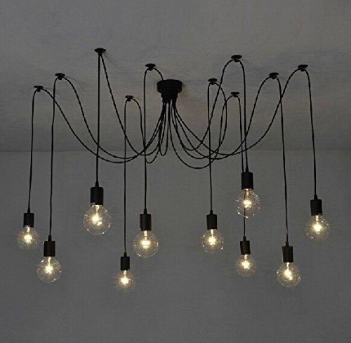 E27 DIY Retro Vintage Industrie Kronleuchter Pendelleuchten Hngelampe Hhenverstellbar