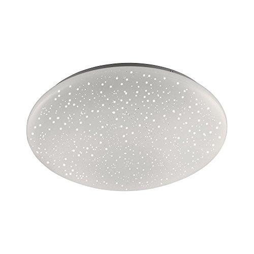 LED-Deckenleuchte, Decken-Lampe rund, RGBW Farbwechsel, warmweiß, Ø 39cm Sternenhimmel-Optik, 1250 Lumen Lichtfarbwechsel, Kinderzimmer-Lampe Wandlampe 3000 Kelvin Star-Light Sterne, Fernbedienung RGB