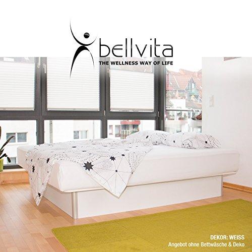 bellvita WASSERBETTEN inkl. Lieferung und AUFBAUSERVICE durch Fachpersonal, 160 cm x 200 cm (weiß)
