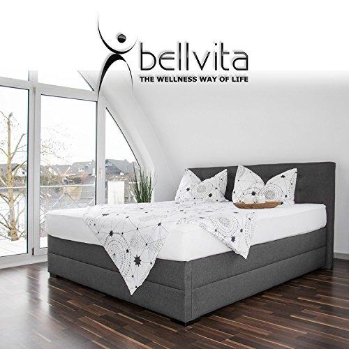bellvita silverline Wasserbett BOXSPRING-Optik inkl. Lieferung & Aufbau durch Fachpersonal, 200cm x 220cm