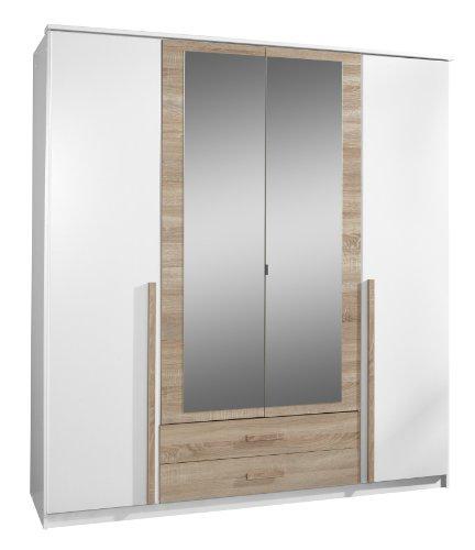 Wimex Kleiderschrank/Drehtürenschrank Rio, 2 Schubladen, (B/H/T) 180 x 197 x 58 cm, Weiß