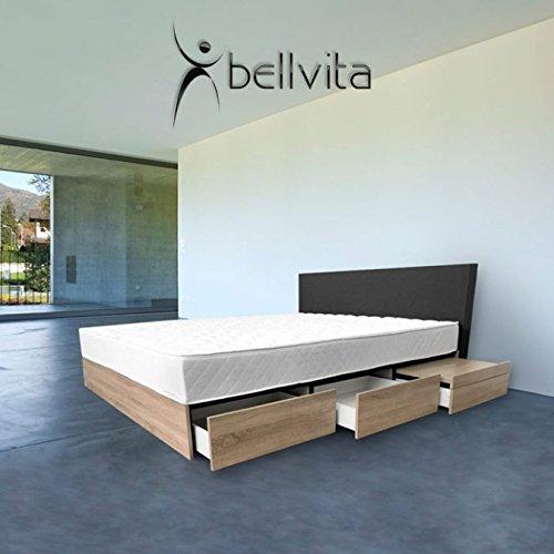 bellvita WASSERBETTEN Fashion mit integrierten Nachttischen Sonoma Eiche